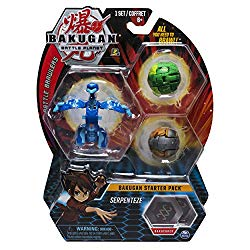 Bakugan Starter Pack 3-Pack, Serpenteze, Collectible Action Figures, for Ages 6 and Up, Multicolor