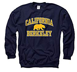 Campus Colors NCAA Adult Arch & Logo Gameday Crewneck Sweatshirt (Cal Golden Bears – Navy, Medium)