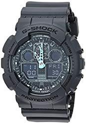 Casio Men's G-Shock Analog-Digital Watch GA-100C-8ACR, Grey/Neon Blue