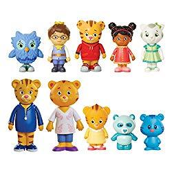 Daniel Tiger's Neighborhood Friends & Family Figure Set (10 Pack) Includes: Daniel, Friends, Dad & Mom Tiger, Tigey & Exclusive Figure Pandy [Amazon Exclusive]