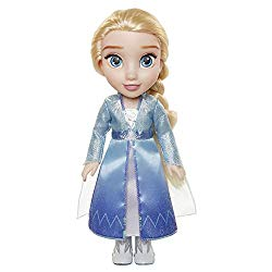 Disney Frozen 2 Elsa Travel Doll – Features Shimmery Ice Crystal Winged Cape Boots and Hairstyle – Ages 3+, 14 in