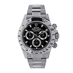 Men's Rolex Cosmograph Daytona Black Dial 40mm Men's Watch – Ref # 116520