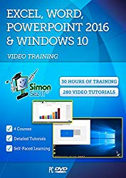 Microsoft Excel, Word, Powerpoint 2016 and Windows 10 – 30 Hours of Video Training Tutorials