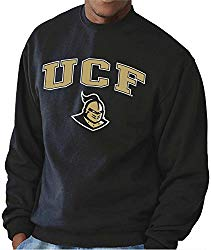 NCAA Adult Arch & Logo Gameday Crewneck Sweatshirt (Central Florida Knights – Black, Large)