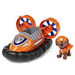 Paw Patrol 6054972 Zuma's Hovercraft Vehicle with Collectible Figure, for Kids Aged 3 & Up, Multicolor