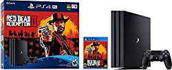 Playstation 4 Pro 2TB SSHD Console with Red Dead Redemption 2 Bundle, 4K HDR, Playstation Pro Enhanced with Solid State Hybrid Drive