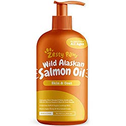 Pure Wild Alaskan Salmon Oil for Dogs & Cats – Supports Joint Function, Immune & Heart Health – Omega 3 Liquid Food Supplement for Pets – Natural EPA + DHA Fatty Acids for Skin & Coat – 32 FL OZ