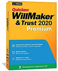 Quicken WillMaker & Trust 2020 Premium | Living Trust | Disc & Download Keycard | Windows & Mac | Nolo's eBook Library (Includes Get It Together + Special Needs Trust + More)
