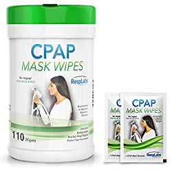 RespLabs Medical CPAP Mask Cleaning Wipes – [110 Pack Plus 2 Travel Wipes] – Biodegradable, Unscented, and Lint-Free.