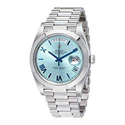 Rolex Day-Date Automatic Ice Blue Dial Platinum Men's Watch 228206IBLSRP