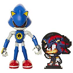 Sonic The Hedgehog Collectible Metal Sonic 4″ Bendable Flexible Action Figure with Bendable Limbs & Spinable Friend Disk Accessory Perfect for Kids & Collectors Alike! for Ages 3+