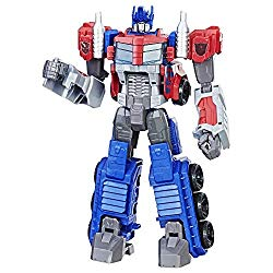 Transformers Toys Heroic Optimus Prime Action Figure – Timeless Large-Scale Figure, Changes into Toy Truck – Toys for Kids 6 and Up, 11-inch(Amazon Exclusive)