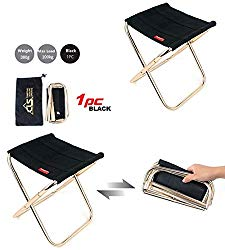 A-code Mini Portable Folding Stool,Ultra Light Portable Outdoor Folding Chair Storage Bag for BBQ, Party,Camping,Fishing, Travel, Hiking, Garden,Beach