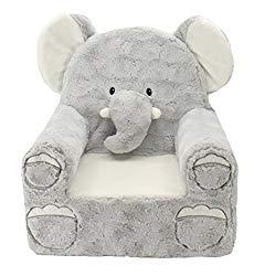 Animal Adventure   Sweet Seats   Grey Elephant Children's Plush Chair