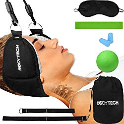 Bodytechnix Neck Head Hammock Kit for Back & Neck Pain Relief   Neck Stretcher & Cervical Neck Traction Device   Spine Decompression Neck Pillow for Physical Therapy