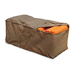 Budge P9A10PM1 English Garden Cushion Storage Bag Heavy Duty and Waterproof, 19.5″ High x 47.5″ Wide x 18″ Deep, Tan Tweed