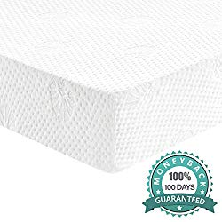 Dourxi Crib and Toddler Mattress – Ideal Breathable & Quiet Foam Mattress Airflow Sleep Surface with Removable Washable Outer Cover, Lightweight Crib Mattress
