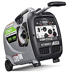 ENKEEO 2300W Generator Portable Inverter, Fuel Power Inverter Generators SC2300i Gas Petrol Powered Power Supply 120V Output, Super Quiet Parallel Ready for Camping Travel
