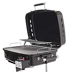 Flame King RV Or Trailer Mounted BBQ – Motorhome Gas Grill – 214 Sq Inch Cooking Surface – Adjustable Flame Controller
