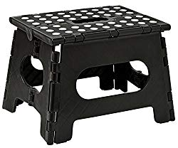 Folding Step Stool – The Lightweight Step Stool is Sturdy Enough to Support Adults and Safe Enough for Kids. Opens Easy with One Flip. Great for Kitchen, Bathroom, Bedroom, Kids or Adults.
