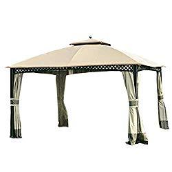 Garden Winds Replacement Canopy for The Windsor Gazebo – Standard 350 – Beige