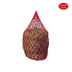 GZQ Nylon Ring Net Bag with Extra Strong Mesh Holes.Horse Accessories Haynet to Trickle Feed Haylage, Horse Treats