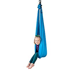 Harkla Indoor Therapy Swing for Kids – Sensory Swing Great for Autism, ADHD, and SPD – Snuggle Swing has a Calming Effect on Children with Sensory Needs – Hardware Included with Indoor Swing Chair