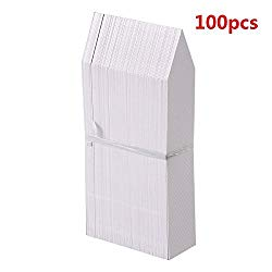 KINGLAKE 100 Pcs 4 Inch Plastic Plant Nursery Garden Labels Pot Marker Garden Stake Tags White
