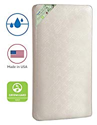 Kolcraft Pure Sleep Therapeutic 150 Waterproof Toddler & Baby Crib Mattress – 150 Extra Firm Coils, 51.7″ x 27.3″