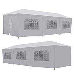 LEMY 10 X 30 Outdoor Wedding Party Tent Camping Shelter Gazebo Canopy with Removable Sidewalls Easy Set Gazebo BBQ Pavilion Canopy Cater Events