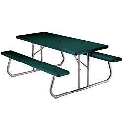 Lifetime 22123 Folding Picnic Table, 6 Feet, Hunter Green