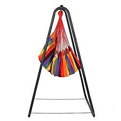 Makalar Canvas Swing Chair Hanging Rope Chair Garden Indoor Outdoor Hammocks
