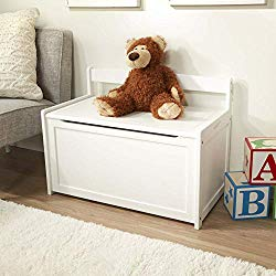 Melissa & Doug Wooden Toy Chest, Sturdy Wooden Chest (4.5 Cubic Feet of Storage, Easy to Assemble, White, Great Gift for Girls and Boys – Best for 3, 4, 5 Year Olds and Up)