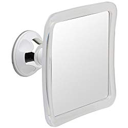 Mirrorvana Fogless Shower Mirror for Fog Free Shaving with Lock Suction-Cup and Swivel, Shatterproof and Portable, 6.3 x 6.3 Inch