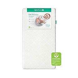 Newton Baby Crib Mattress and Toddler Bed   100% Breathable Proven to Reduce Suffocation Risk, 100% Washable, Hypoallergenic, Non-Toxic, Better Than Organic – Removable Cover Included, White