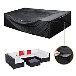 Patio Furniture Set Cover Outdoor Sectional Sofa Set Covers Outdoor Table and Chair Set Covers Water Resistant Large 126″ L x 64″ W x 28″ H