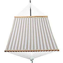 Patio Watcher Hammock 14 FT Quick Dry Hammock Double Size Spreader Bar Outdoor Patio Yard Poolside Hammock with Chains, 2 Person Hammock 450 Pound Capacity
