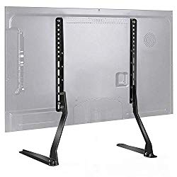 PERLESMITH Universal Table Top TV Stand for 37 – 70 Inch Flat Screen, LCD TVs Premium Height Adjustable Leg Stand Holds up to 110lbs, VESA up to 800x400mm