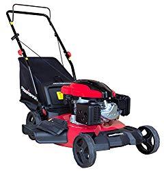 PowerSmart DB8621P 3-in-1 159cc Gas Push Mower, 21″, Red, Black