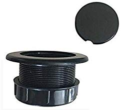 QIQIHOME Patio Table Umbrella Thicker Hole Ring Plug and Cap Set (Black)