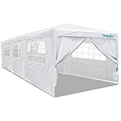 Quictent 10′ x 30′ Party Tent Gazebo Wedding Canopy BBQ Shelter Pavilion with Removable Sidewalls & Elegant Church