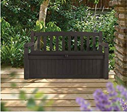 SA Patio Storage Bench Waterproof, 70 Gal All Weather Outdoor Patio Storage Bench Deck Box Brown & Free EBook by Stock4All