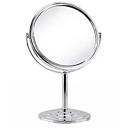 Schliersee Magnifying Vanity Table Mirror Double Sided 7 Inch Swivel 3X Magnification Makeup Standing Mirror