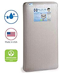 Sealy Baby Firm Rest Waterproof Standard Toddler & Baby Crib Mattress – 204 Premium Coils, Luxury Design Pattern May Vary, 51.7″ x 27.3″