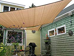 Shade&Beyond 8′ x 10′ Sun Shade Sail Canopy Rectangle Sand, UV Block Sunshade for Backyard Yard Deck Outdoor Facility and Activities