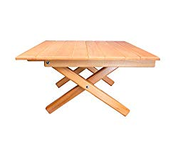 Simple Setup Short Table All-Purpose Use and Portability – Beach, Picnic, Camp, Or As A Gift – All Wood Strong Table (Height 10″)