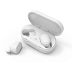 Sport Earbuds,Businda Mini Wireless Stereo Headphones Invisible Car Bluetooth Earpieces Earphones Headset with Mic & Magnetic Charge Box for IPhones Android Phones (White)