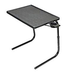 Table Mate II Folding TV Tray Table and Cup Holder with 6 Height and 3 Angle Adjustments the Original TV Tray (Black)