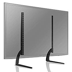 TAVR Universal Table Top TV Stand for Most 27 30 32 37 40 42 47 50 55 60 65 inch Plasma LCD LED Flat or Curved Screen TVs with Height Adjustment,VESA Patterns up to 800mm x 500mm,88 Lbs,UT3001