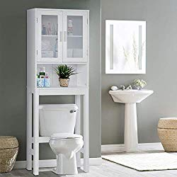 Wooden Over The Toilet Cabinet Storage,BestComfort Bathroom Organizer Over Toilet Storage, Above The Toilet Space Saver Cabinet